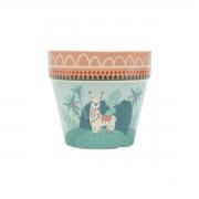 Vaso Cerâmica Méxican Lhama 14x13 cm Urban