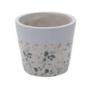 Vaso concreto Granilite Fossil Stardust cinza/bege 12,5x11cm Urban