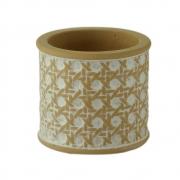 Vaso concreto String Knot branco bege 8X6,7cm Urban