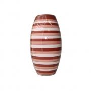 Vaso Love Stripes pequeno marrom/rosa 13x25 cm Monte Real