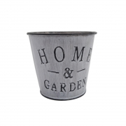 Vaso metal branco Home and Garden 10x11x7,5 Santa Cecília