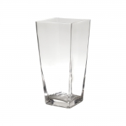 Vaso vidro Basic Clear Open Square 12x12x19 cm Urban