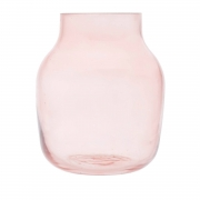 Vaso vidro Greek Pot rosa 10,5x13cm Urban