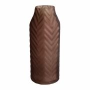 Vaso vidro marrom geométrico 9,5x23cm BTC