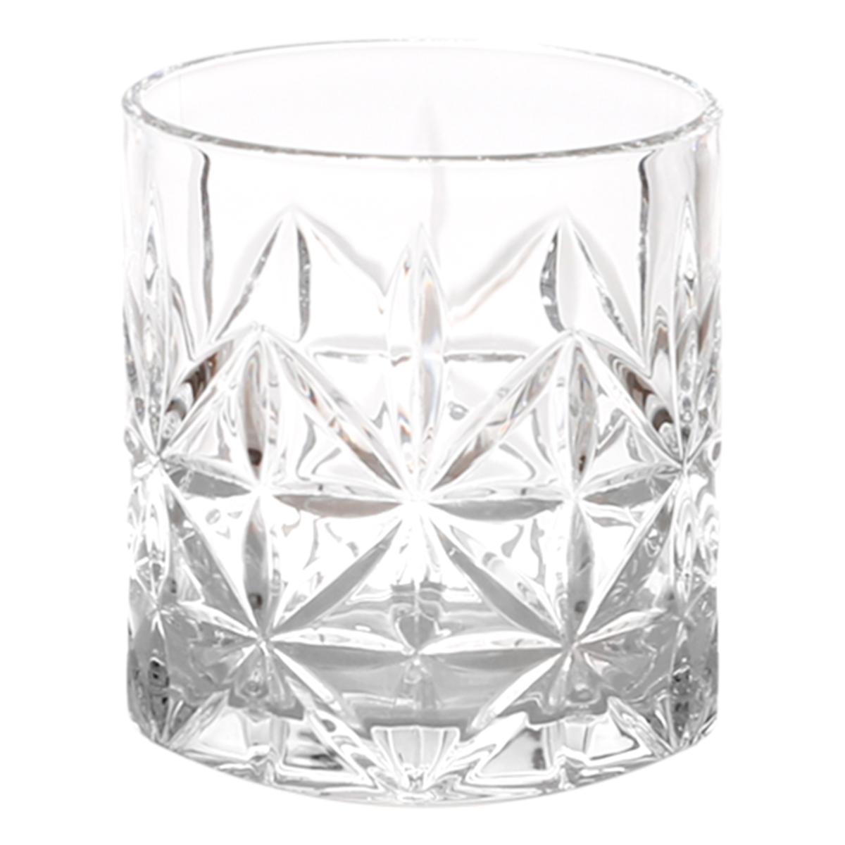 Balde de Gelo 1 L + 6 Copos Whisky Vidro Stella 300ml/9x8cm