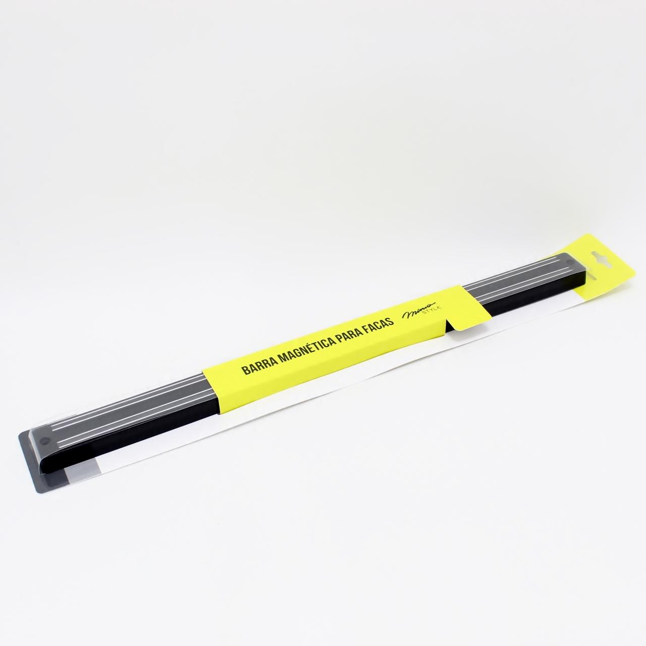 Barra Magnética para Facas 45cm Preto Mimo Style