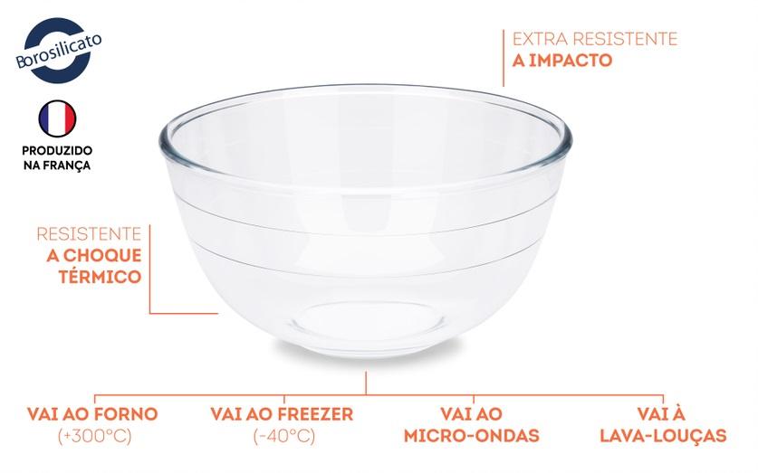 Bowl Cheff vidro 21x11cm 2L Brinox