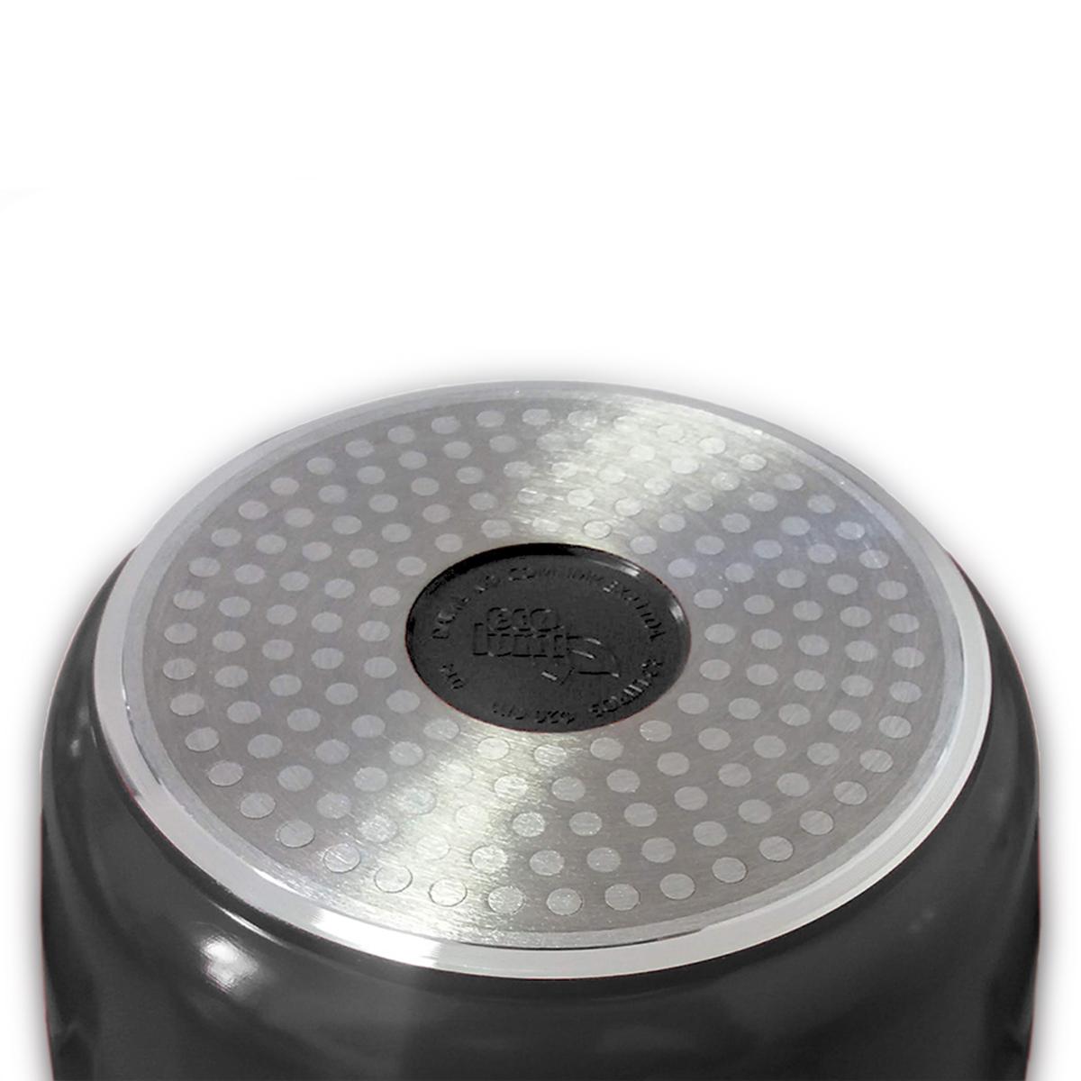 Caçarola indução revestimento cerâmico 20cm Preto Ecolumi