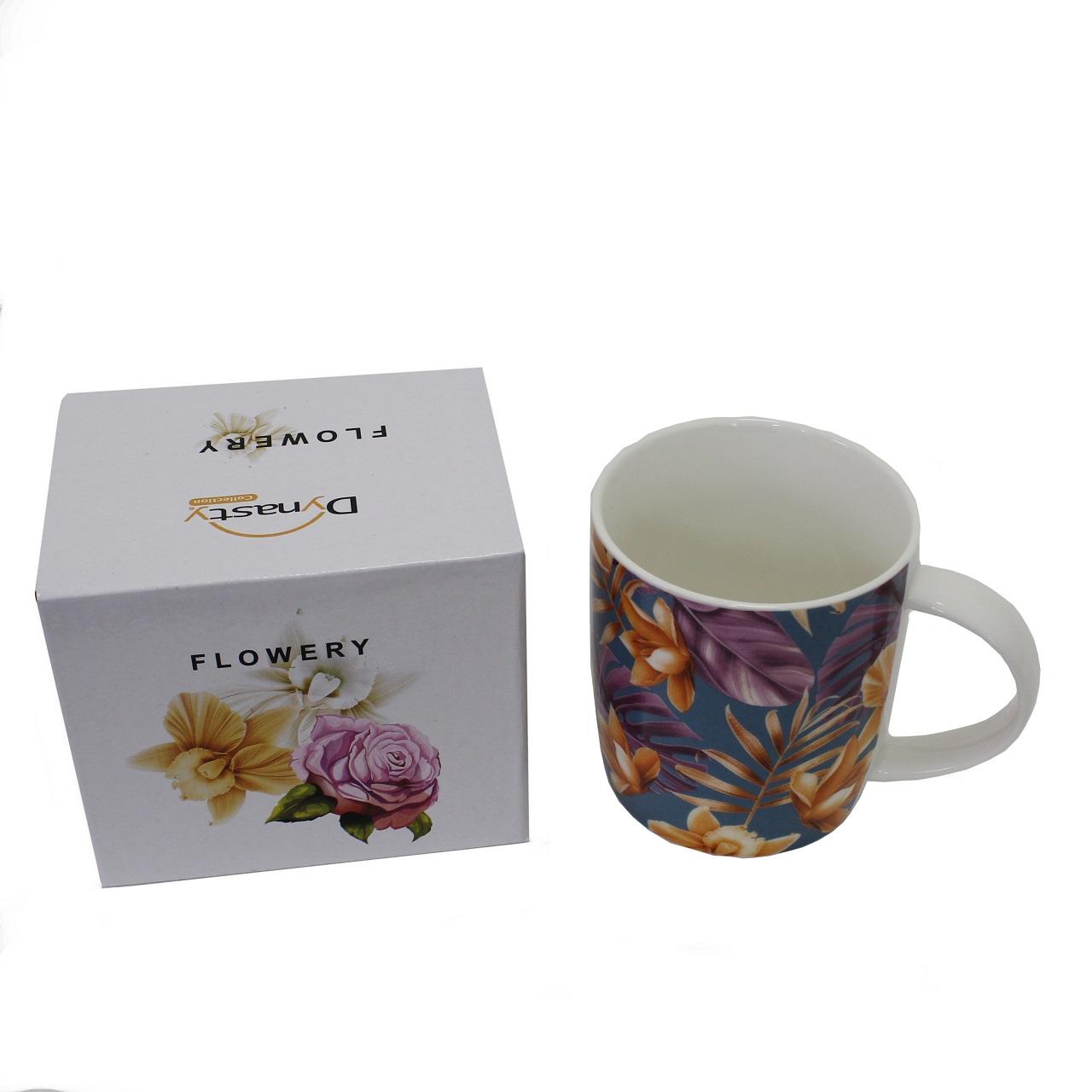 Caneca Flowery Tropical em porcelana 340 ml Dynasty