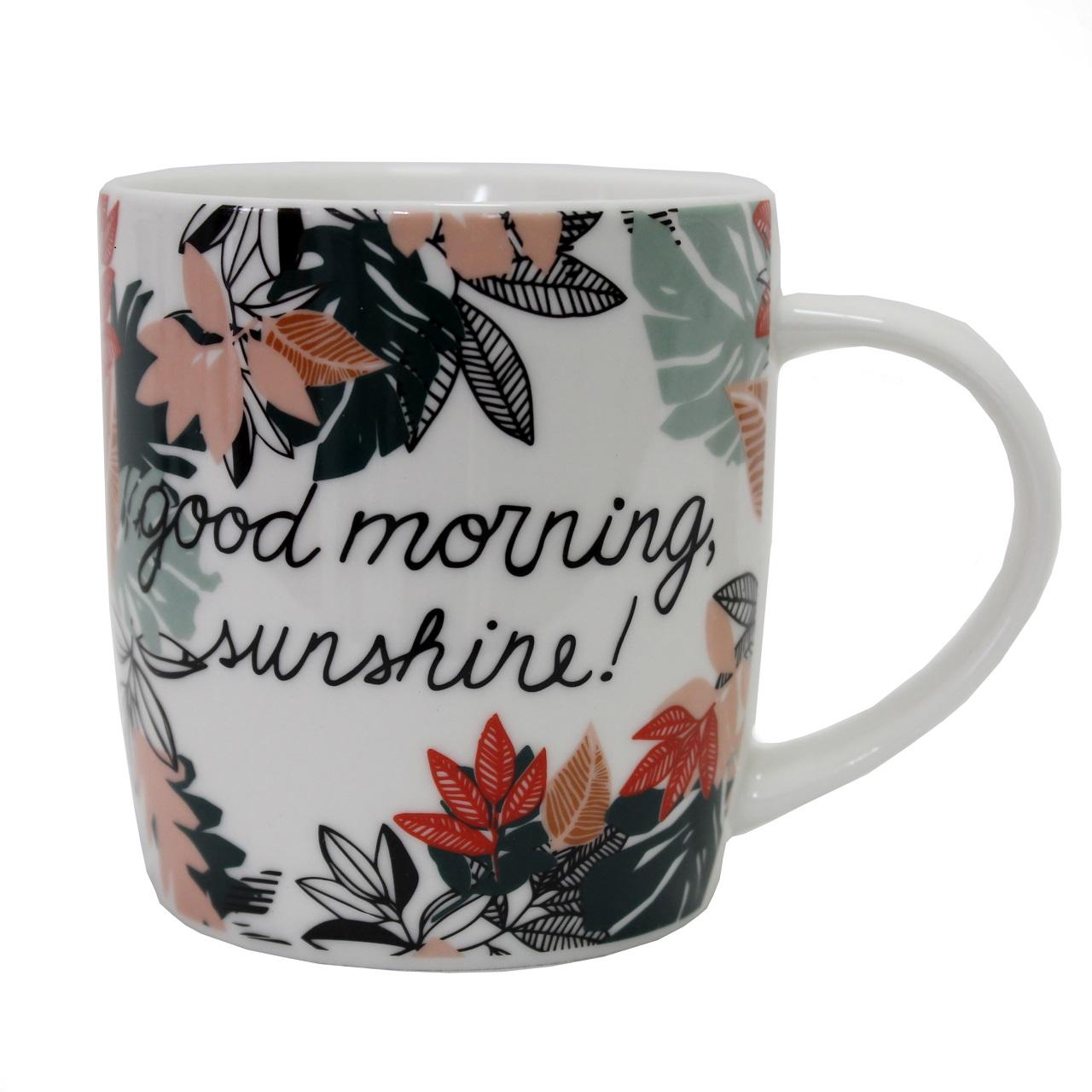 Caneca Free Life Good Morning em porcelana 340 ml Dynasty