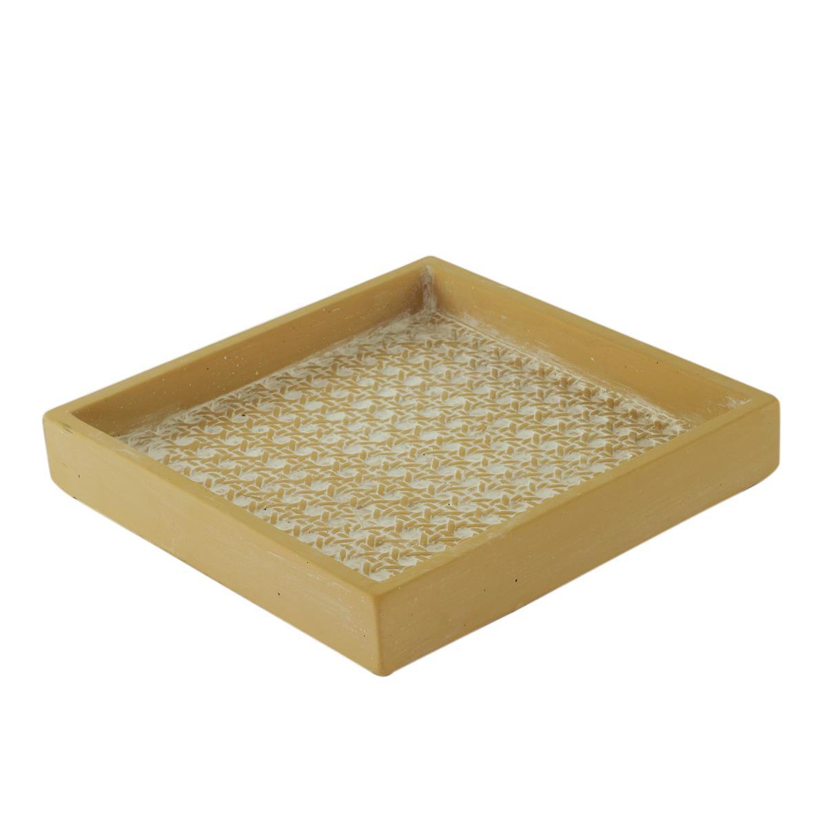 Centro de mesa concreto Strig Knot branco 19x3cm Urban