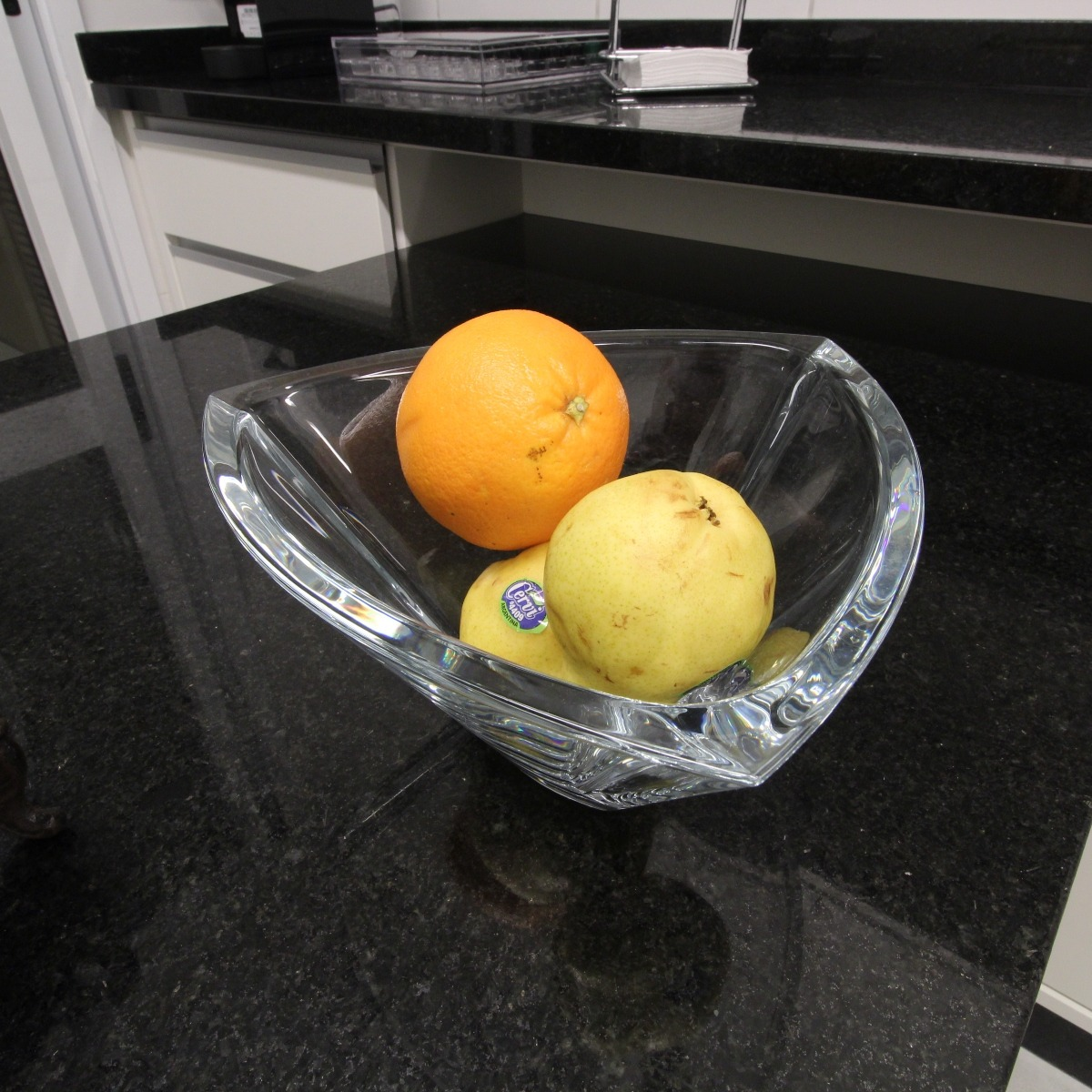 Centro de mesa Triangle em cristal ecológico 24cm Bohemia