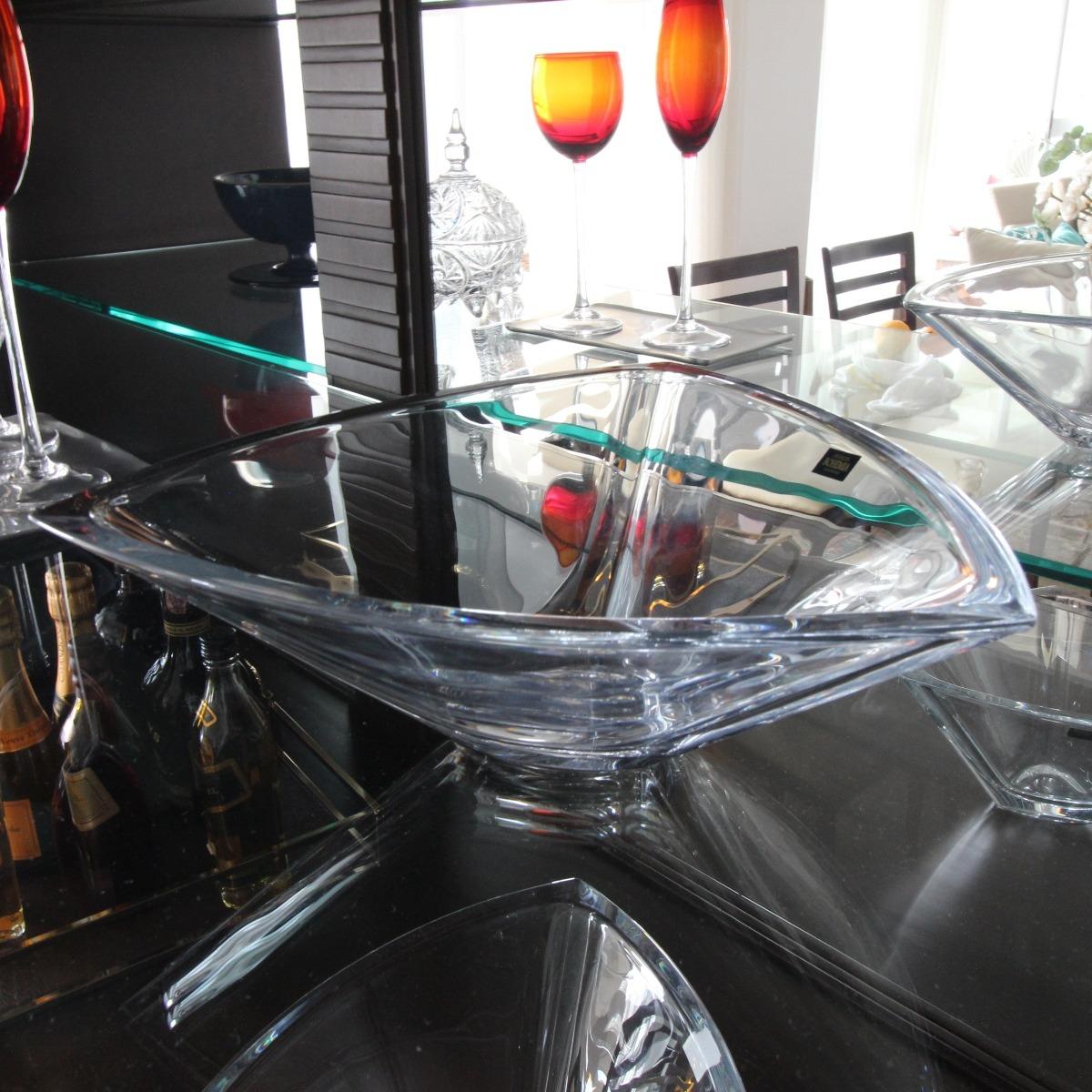 Centro de mesa Triangle em cristal ecologico 30cm Bohemia