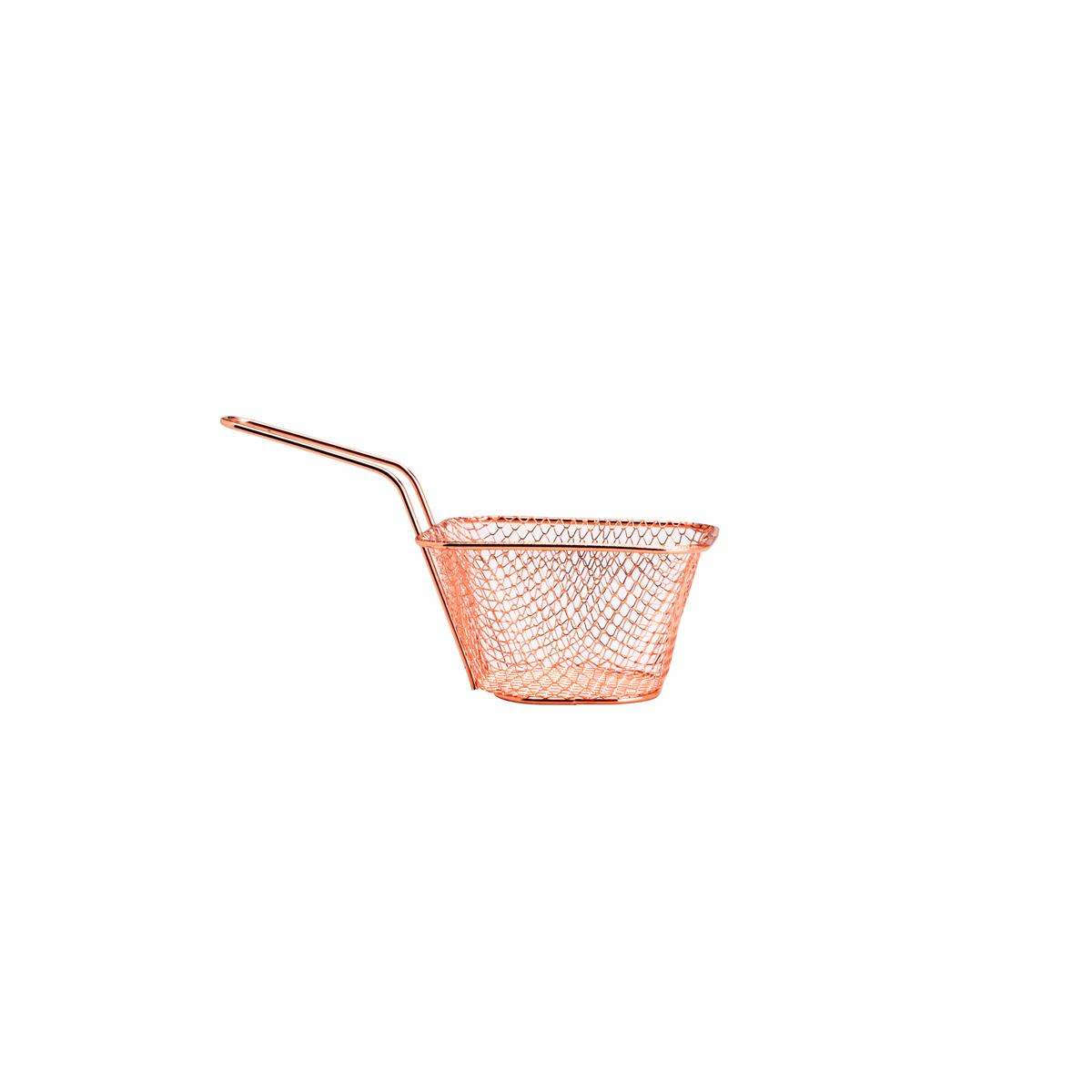 Cestinha de aço inox rose 19,5x9x11cm Lyor