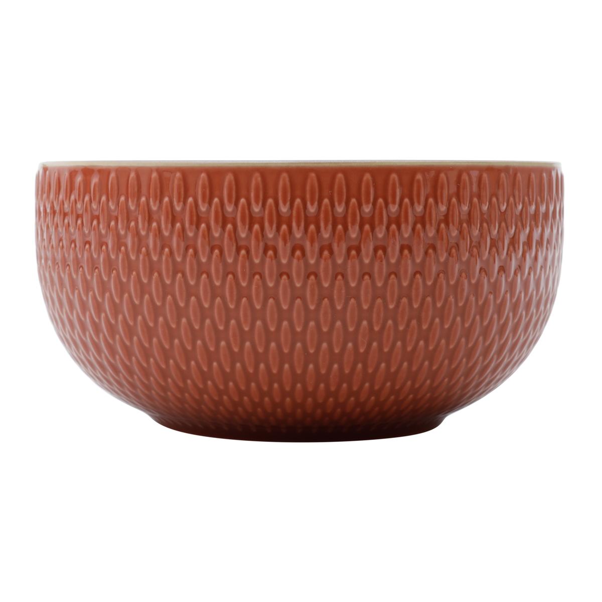 Conjunto 2 bowls em porcelana telha 700 ml 13,5x7cm Rojemac