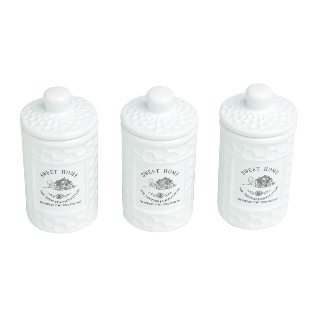 Conjunto 3 potes porcelana Sweet Home 150 ml Bon Gourmet