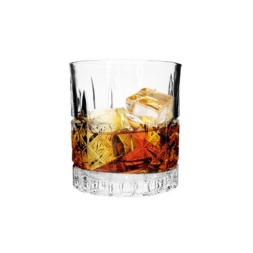 Conjunto 6 copos vidro whisky Bred 8x9cm 340ml Mimo Style