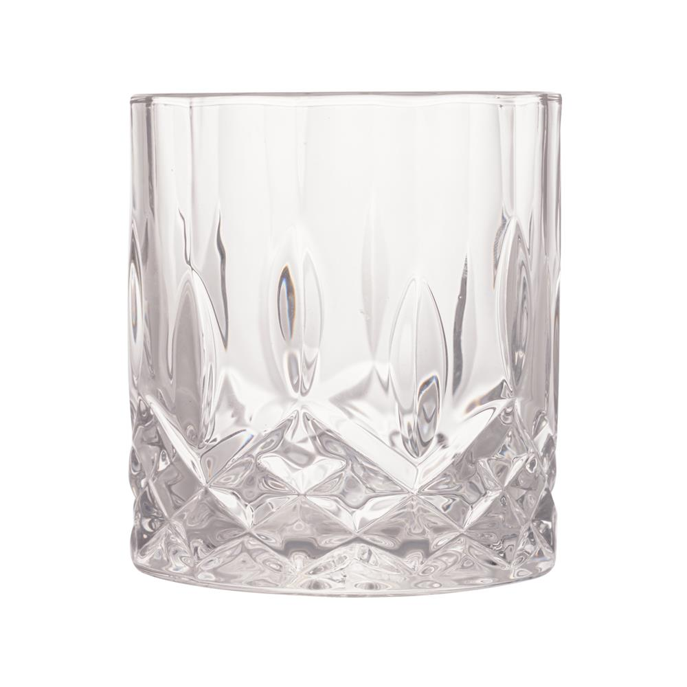 Conjunto 6 copos whisky vidro Angle 325ml 8x9cm Bon Gourmet