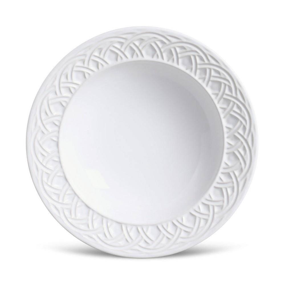 Conjunto 6 Pratos Fundos Cestino branco 22cm Porto Brasil