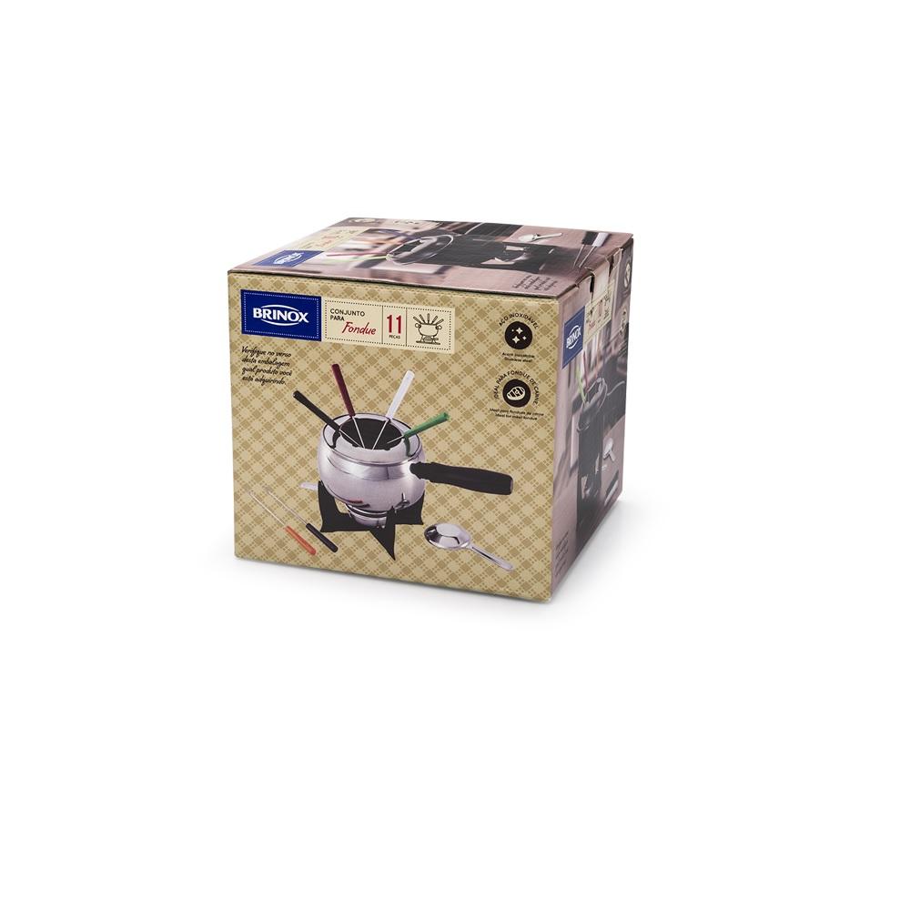 Conjunto fondue inox 11 pcs 16 cm Brinox