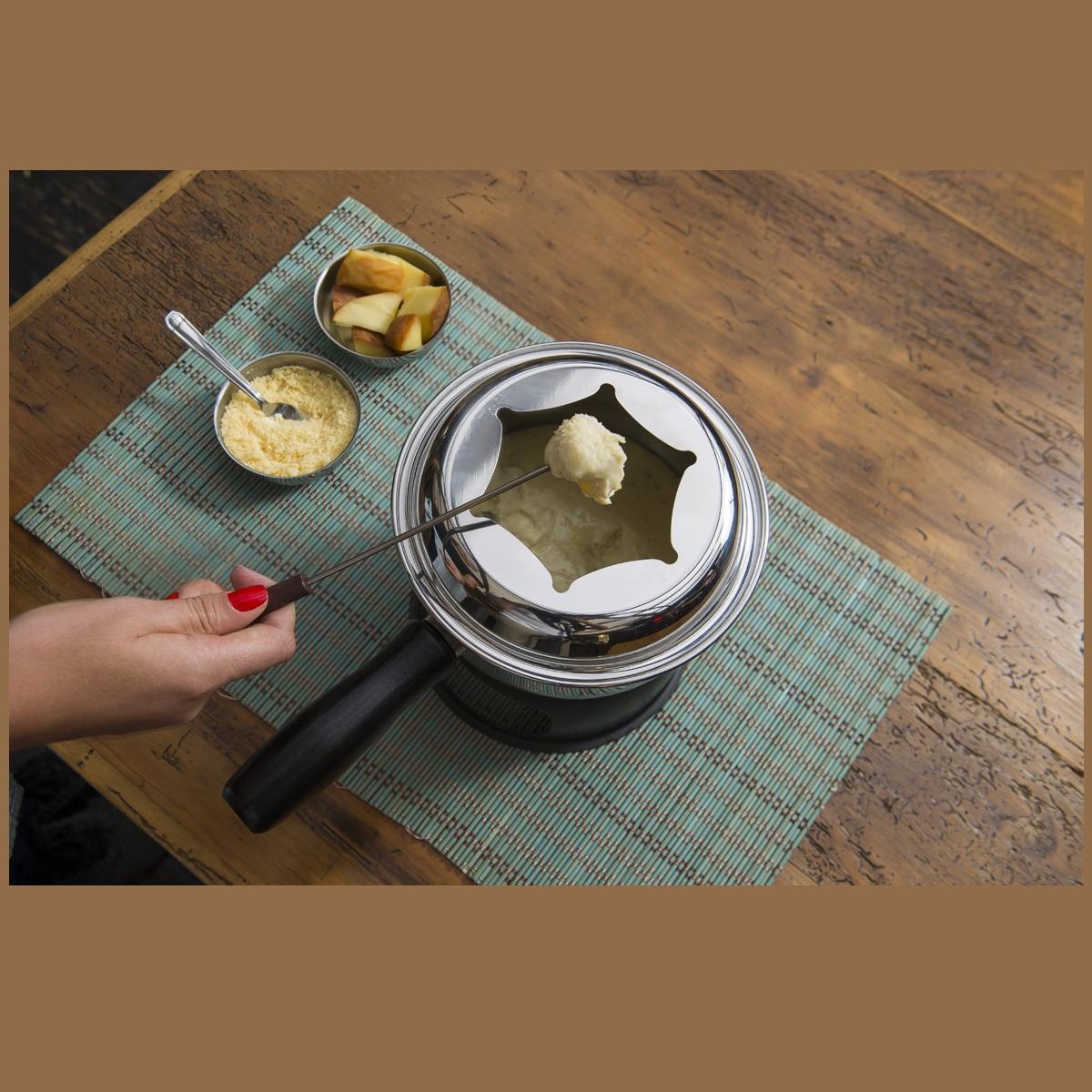 Conjunto fondue inox 12 peças 16cm Brinox