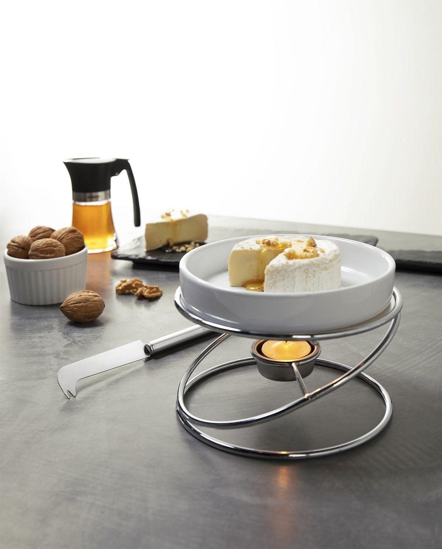 Conjunto rechaud e espátula para queijo brie 15x12cm Brinox