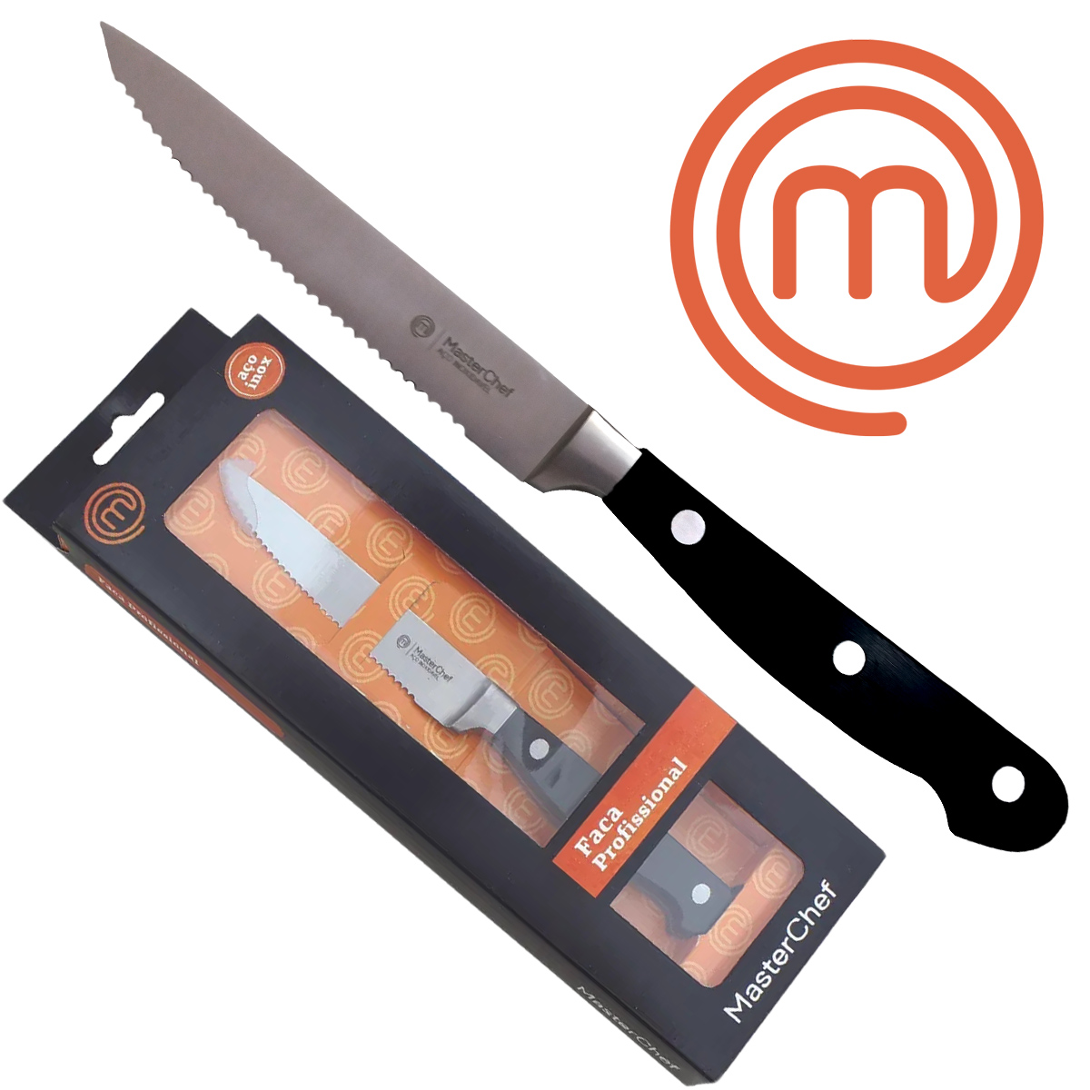 Faca do Chef Churrasco 4,5 MasterChef Profissional Line Inox