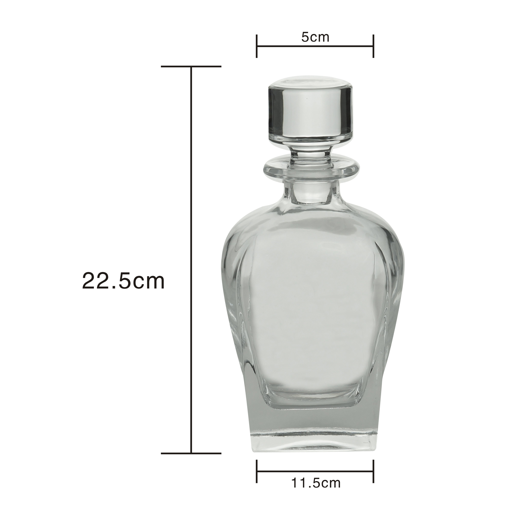 Garrafa para whisky e Licor cristal 700 ml  11x22cm Rojemac