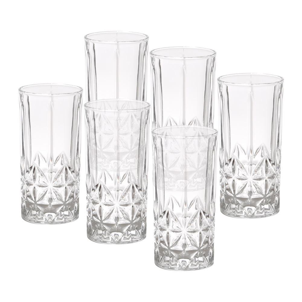 Jogo 6 copos altos vidro Stella 360ml 7x15cm Bon Gourmet
