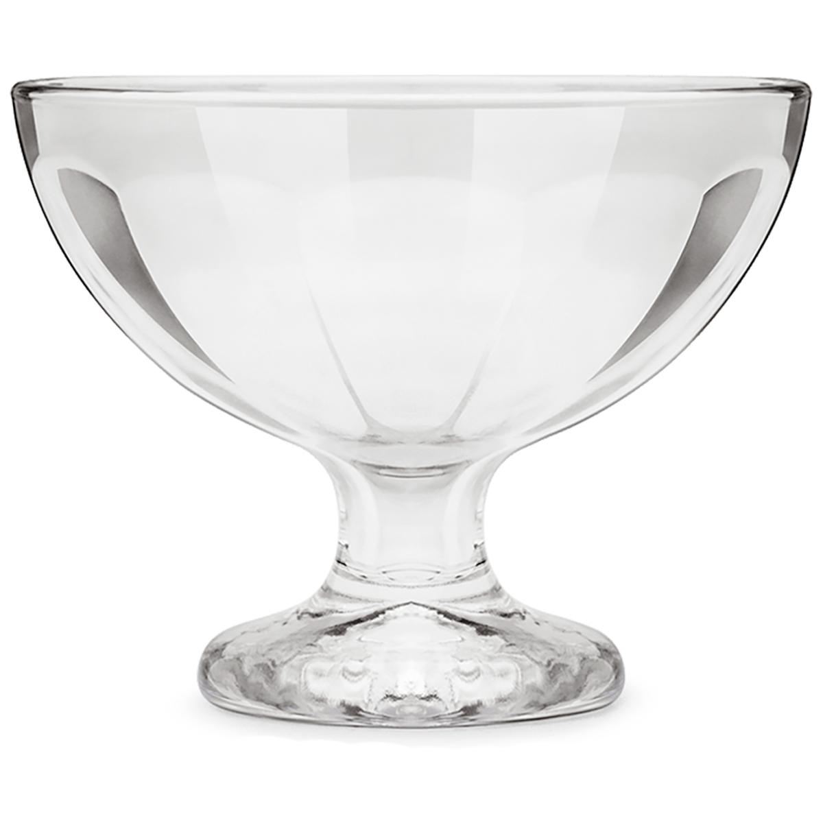 Jogo 6 Taças Sobremesa Vidro Pavillion 270ml 12x8cm Brinox
