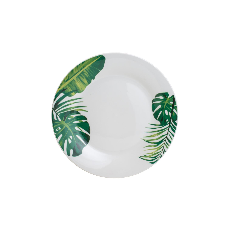 Jogo de jantar 20 peças 4 serviços porcelana Tropical Lyor