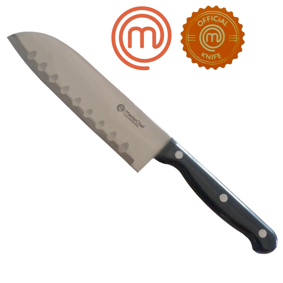 Kit 3 Facas Chef Quotidien/Gastronomie e Afiador MasterChef
