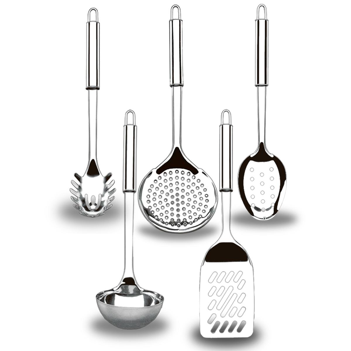 Kit 5 utensílios em Inox Top Pratic Brinox