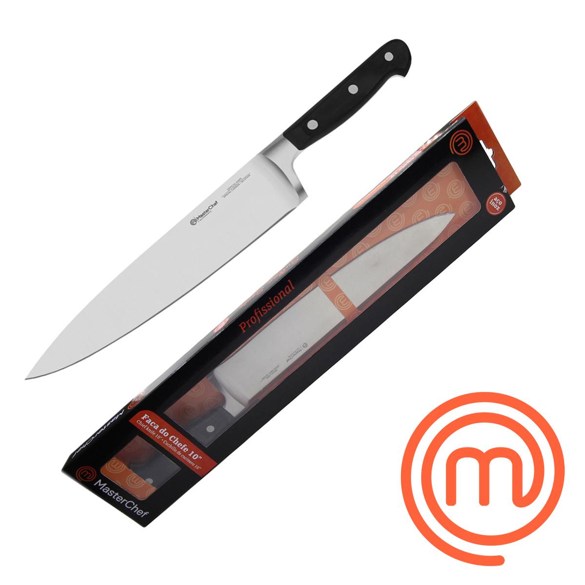 Kit 8 Facas 6/8/10 Filetar/Desossar MasterChef Profissional