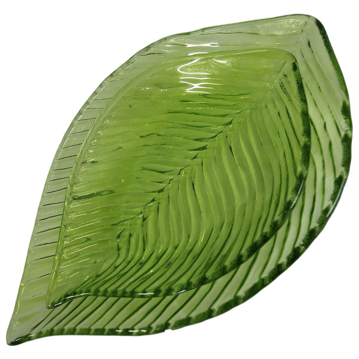 Kit Centro de mesa Folhagem vidro verde limão L'Hermitage