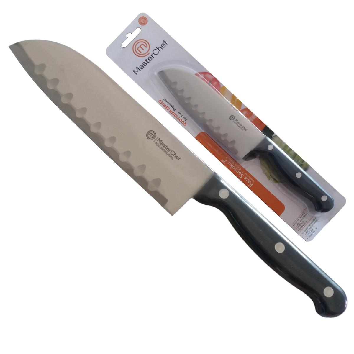 Kit Facas do Chef Quotidien 6p 8p Santoku Forjada MasterChef