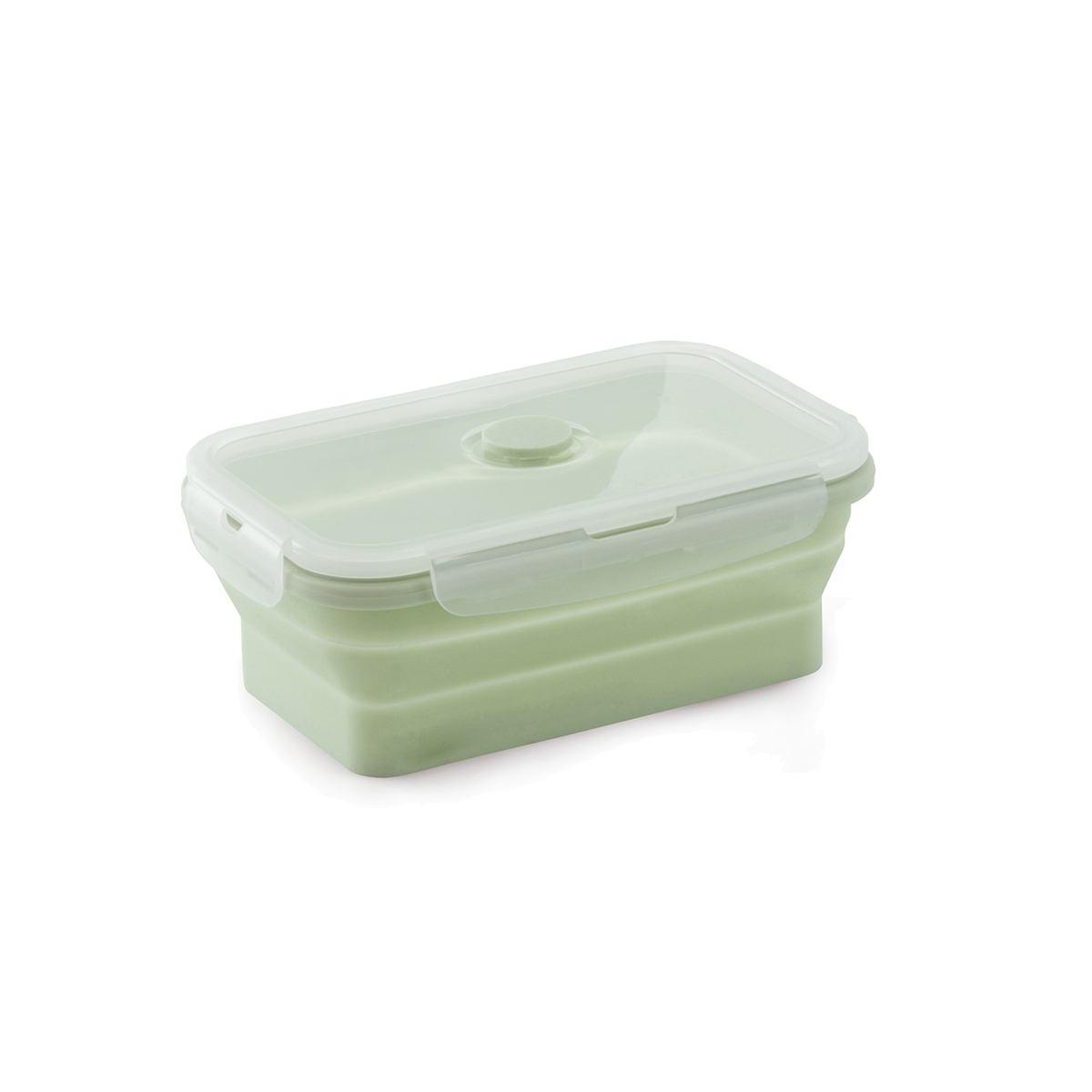 Marmita porta alimentos silicone retrátil 450ml verde Mimo Style