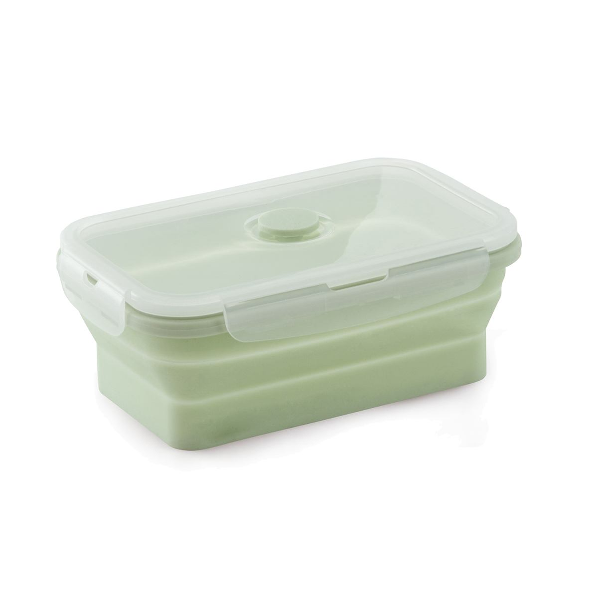 Marmita porta alimentos silicone retrátil 700ml  verde Mimo Style