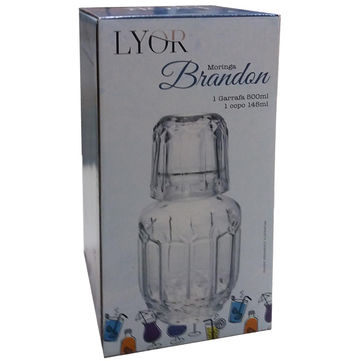 Moringa e Copo Vidro Sodo Calcico 500ml/145ml Brandon Lyor