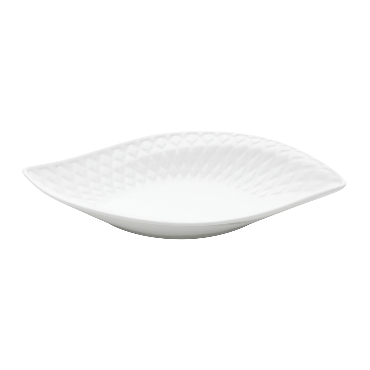 Petisqueira cerâmica Curvy Leaf Branco 20x10x3 cm Urban