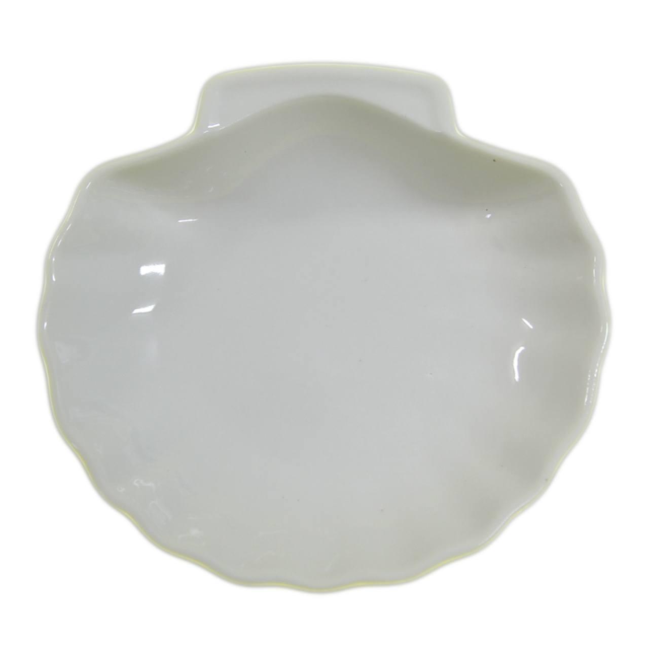 Porta anéis cerâmica Shell Basics Branco 15x14cm Urban