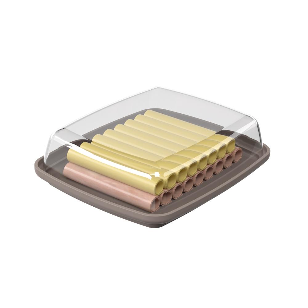 Porta frios polipropileno 19x16x5,5cm Cozy cinza quente Coza