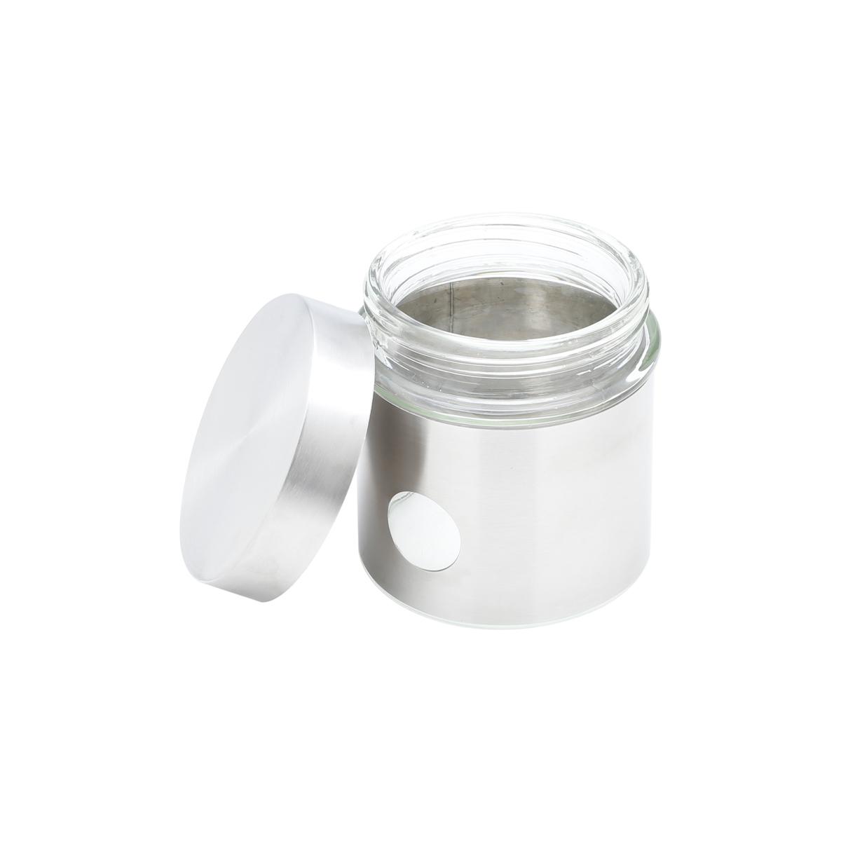 Porta mantimentos inox vidro 700ml Bon Gourmet