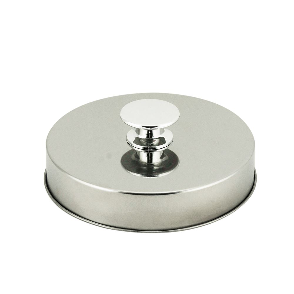 Porta mantimentos vidro tampa metal 2l 11x22,5cm Lyor