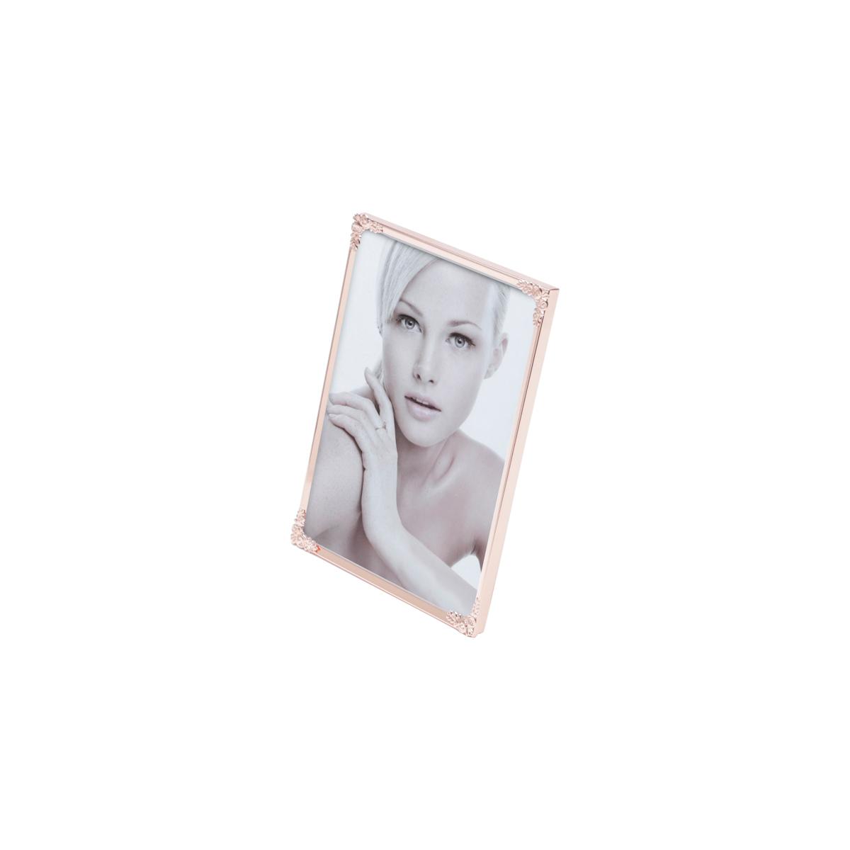 Porta-retrato aco Fleur rose 15,5x20,5cm foto 15x20 Rojemac