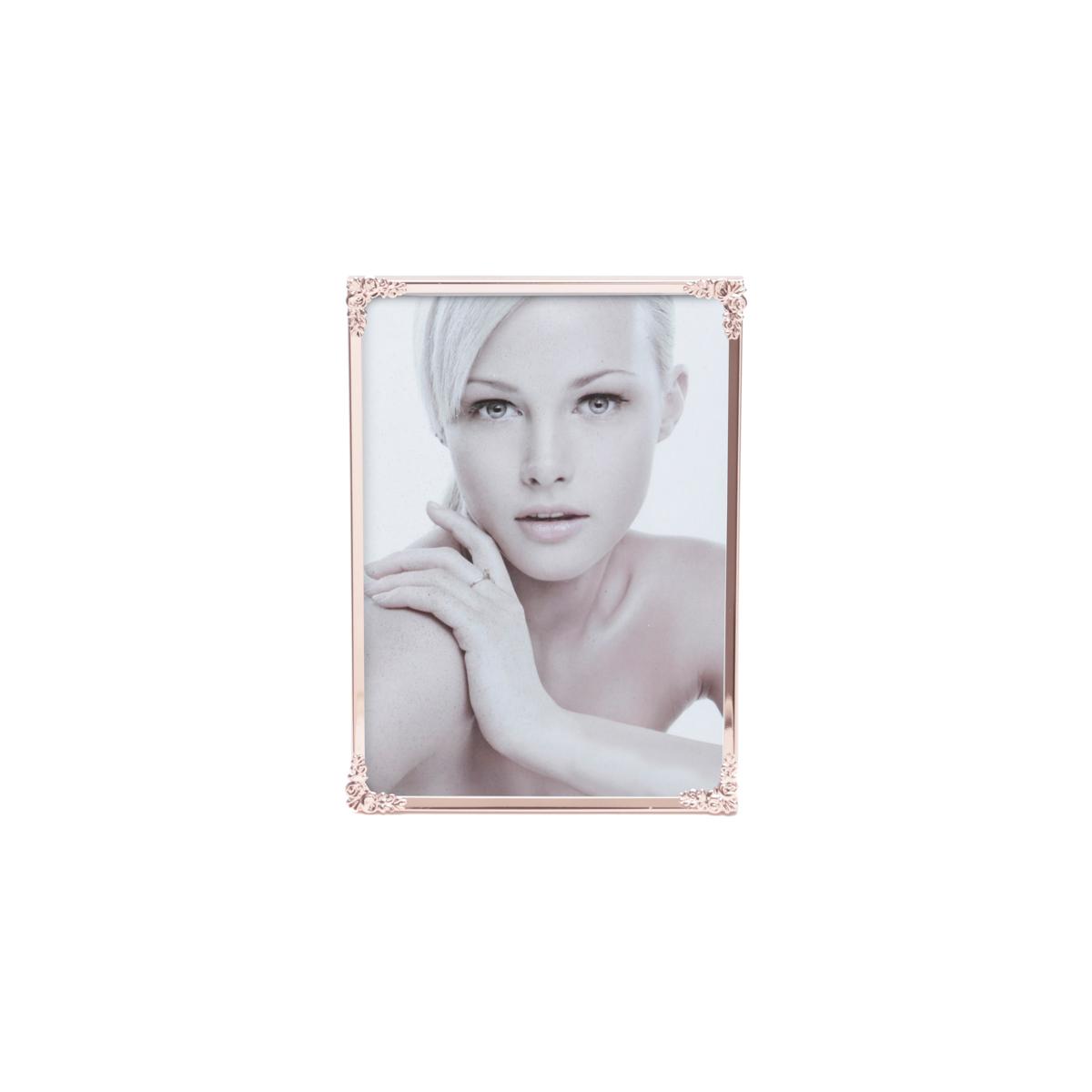 Porta-retrato aco Fleur Rose 21x26cm foto 20x25cm Rojemac