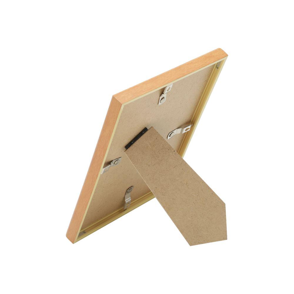 Porta retrato plástico Basic Wood bege 14x19cm 13x18 Urban