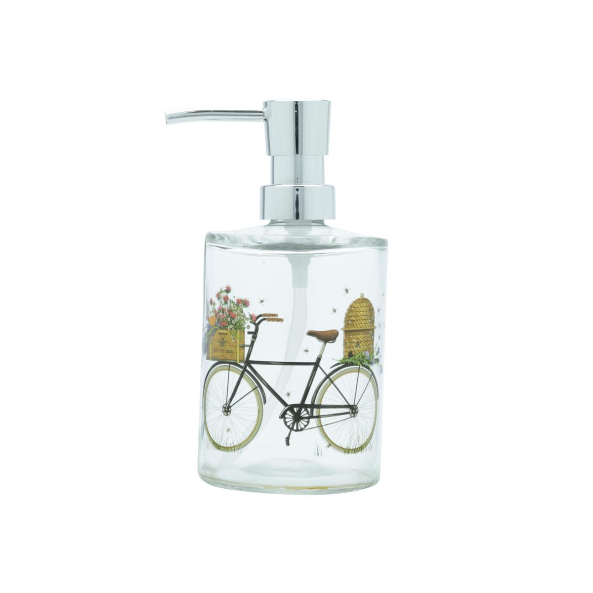 Porta sabonete líquido vidro Bike and Flower preto Urban
