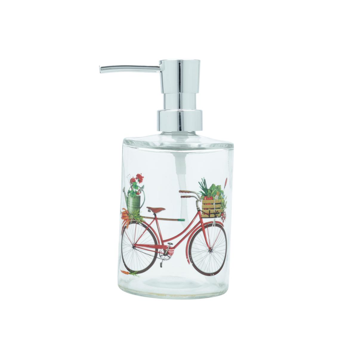Porta sabonete líquido vidro Bike and Flower vermelho Urban