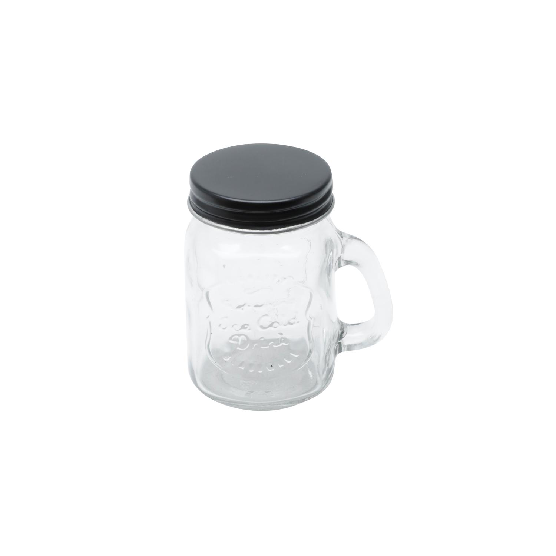 Pote de vidro tampa Preta Little Mug 4,5x8,6cm 110ml Urban